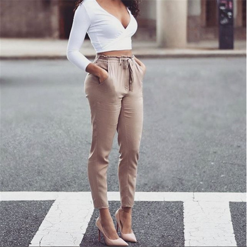 High Waisted Khaki Pants Promotion-Shop for Promotional High ...