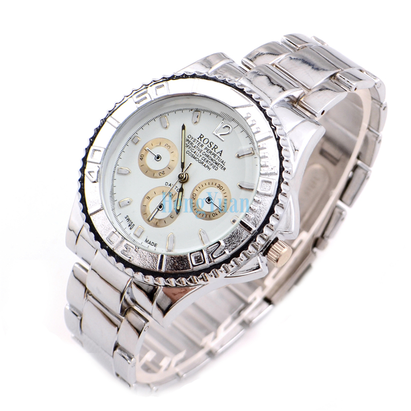 watch picture more detailed picture about rosra skeleton rosra skeleton sterling silver chain men full steel watch quartz watch men sports watches relogio masculino