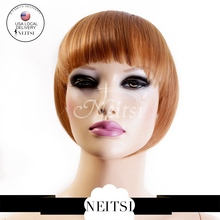 Neitsi 27# Honey Blonde Synthetic Clip In Hair Bangs Extensions One Piece 25g/pc Straight Fashion Headband Bangs Fast Shipping(China (Mainland))