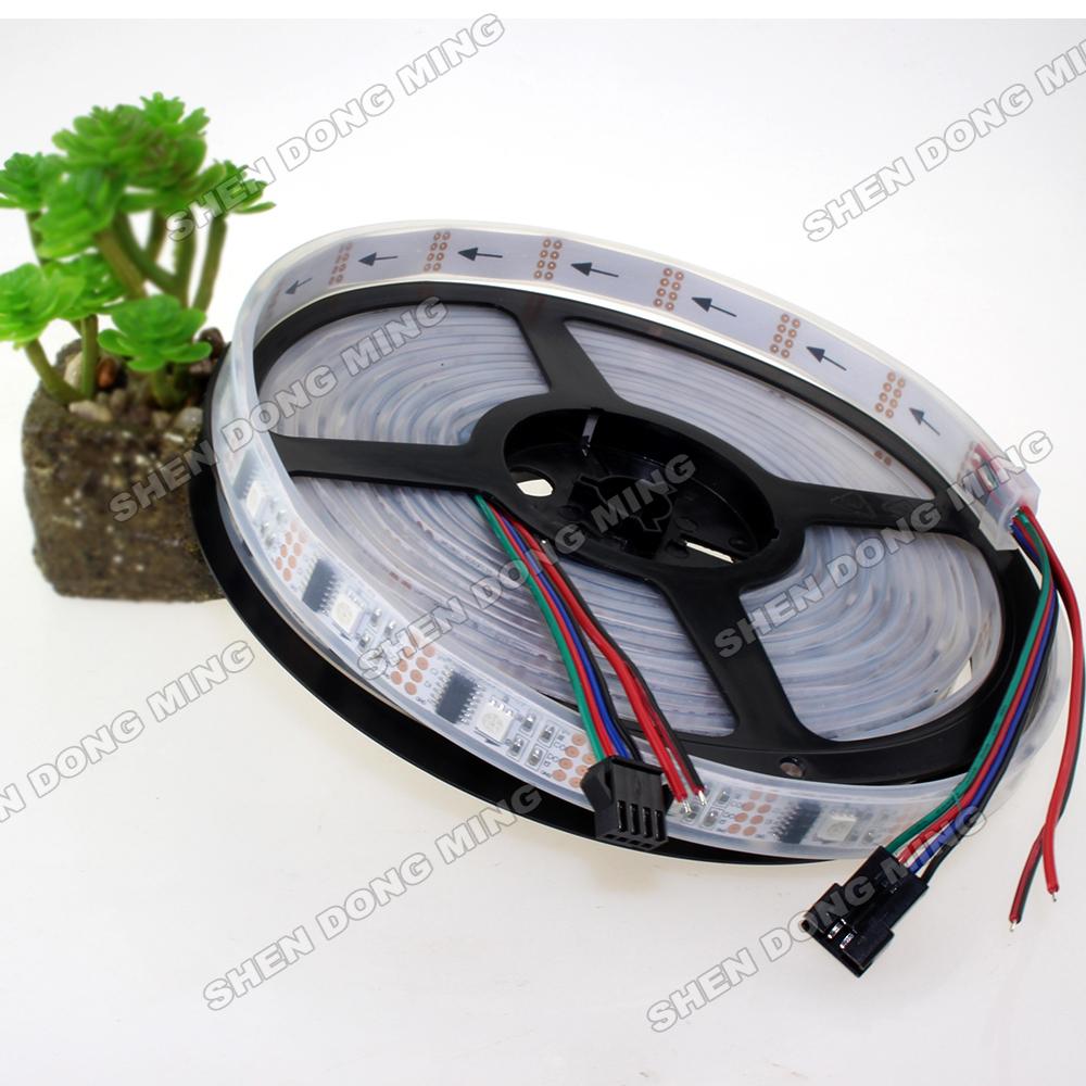 1m changeable color waterproof Ip67 digital LED Strip RGB 5050 32led/M 32IC/M Ws2801 Led Strip pixel Flexible led ribbon(China (Mainland))