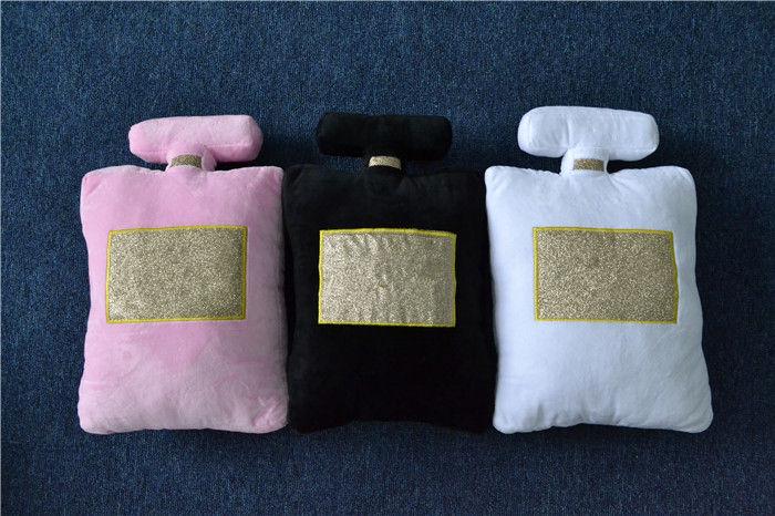 3 Colors Perfume Bottle Shape Cushion Short Plush Fiber Fillings Home Decoration Car Seat Sofa Bedding Couch Pillows 25(China (Mainland))