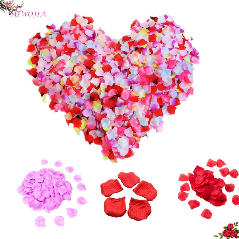 3000pcs / AIWOJIA petals artificial rose petals silk petals birthday party wedding decoration petals wedding decoration 1ZSH806(China (Mainland))