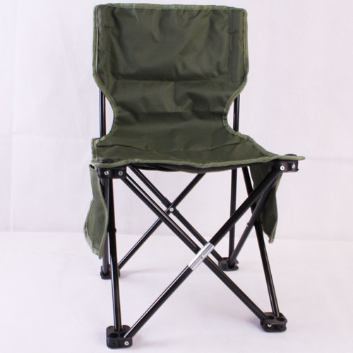 Fishing tackle fishing chair folding chair outdoor portable leisure chair fishing stool Army Green Large