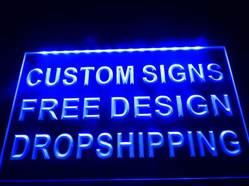 Design Your Own Custom Led Neon Light Sign Bar Open