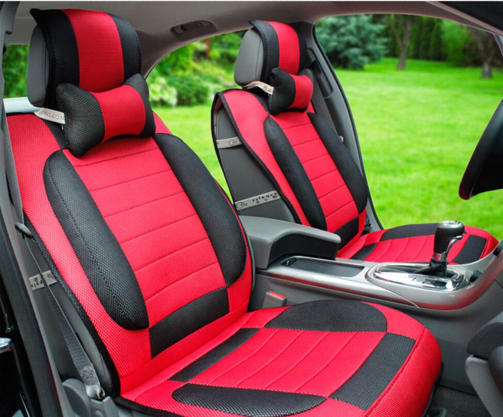 10pcs Car Covers Ice Silk Sandwich Car Seat Cover Set