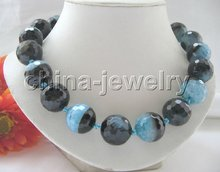"""Gorgeous 18"""" 20mm multicolor faced agate necklace+free shippment(China (Mainland))"""