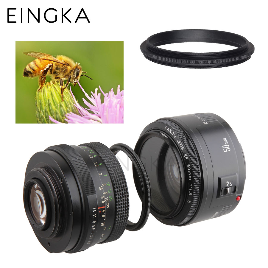 Metal Male thread 52mm to Male thread 58mm Macro Camera Lens Reverse Adapter Ring (35 models provide choice)(China (Mainland))