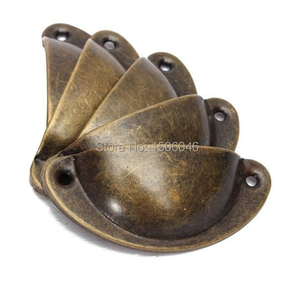 20pcs/lot 7cm long trumpet shell antique handle drawer pulls jewelry box medicine cabinet handle drawer handle iron 8x3x2cm(China (Mainland))