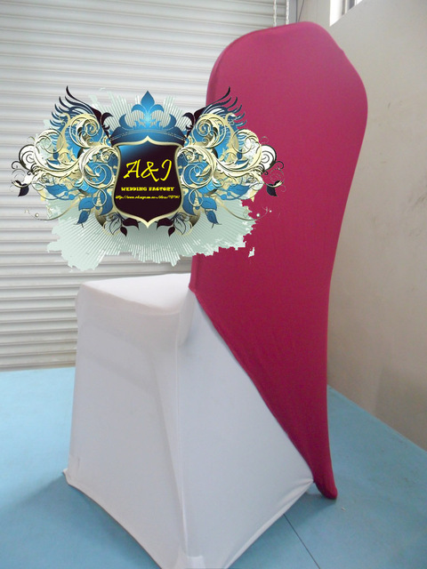 Door to door free shipping-100pcs/lot fuchsia color chair cover caps, wedding chair decorative