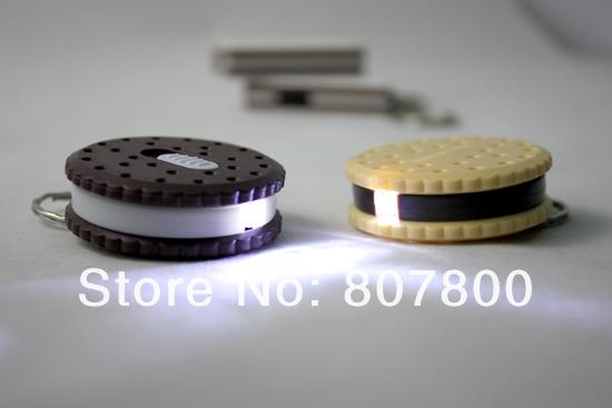 20pcs/lot Creative LED Gift Cookies Shape led light flashlight keychain creative practical key chain pendant(China (Mainland))