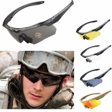 Buy Cycling Glasses Driving Eyewear Military Goggles Hiking Polarized Army Tactical Sunglasses 3ls 4 / 5 Lens RL12-0005 for $12.99 in AliExpress store