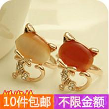 popular gold cat ring