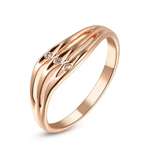 Real Italina Rigant Rings for Women Genuine Austria Crystal  18K gold Plated  New Sale  Hot #RG91736Rose(China (Mainland))