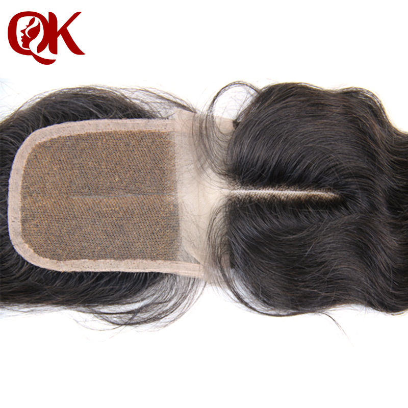 "Brazilian Virgin Hair Bleached Knots 3.5x4"" Lace Top Closure Body Wave 10-20"" Middle Part Hair Pieces FREE SHIPPING(China (Mainland))"