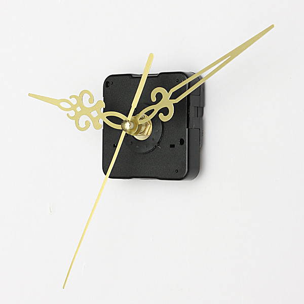 Gold Hands DIY Quartz Black Wall Clock Spindle Movement Mechanism Repair Parts(China (Mainland))