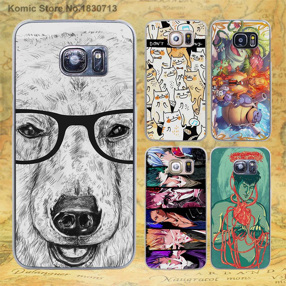 Geek Bear rainbow hard clear shell phone Cases for samsung galaxy s7 s6 edge Plus s3 s4 s5 mini & note 5 4 3 2(China (Mainland))