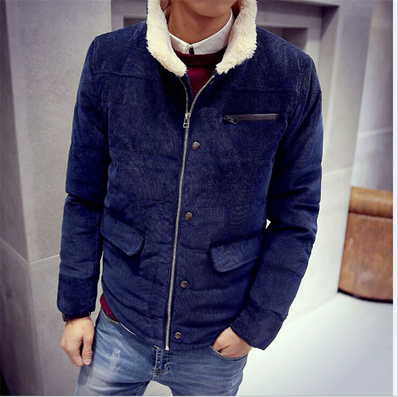 2015 Men s thick winter coat jacket men s winter clothes winter jacket collar FZ034