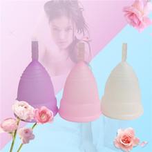 Новый розничная менструальный кубок для женщин женская гигиена продуктов медицинского силикона влагалище использовать маленький или большой размер anner кубок(China (Mainland))