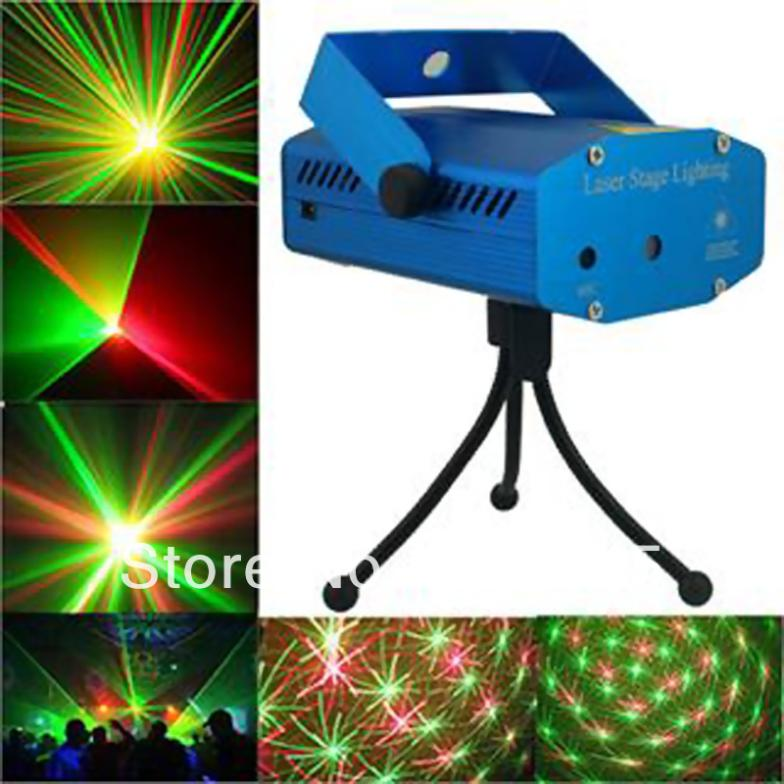Mini Laser Lights Projector Tripod laser Stage lighting DJ Disco Xmas Party Show Club Bar - Icablelink Electronics Limited store