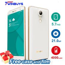 Doogee F7 Pro F7 Deca Core Smartphone 4000mah 5.7 Inch MTK6797 Android 6.0 4GB RAM 32GB ROM 21MP fingerprint 4G LTE Mobile Phone(Hong Kong)