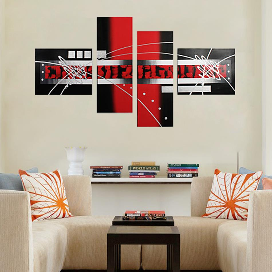 2016 new100 handpainted abstract geometry black and white. Black Bedroom Furniture Sets. Home Design Ideas