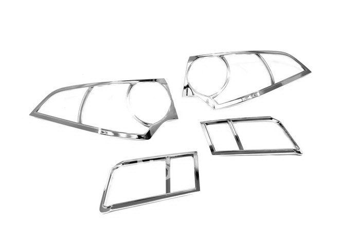 High Quality Chrome Tail Light Cover for Honda Accord Euro 08 Free Shipping(Hong Kong)