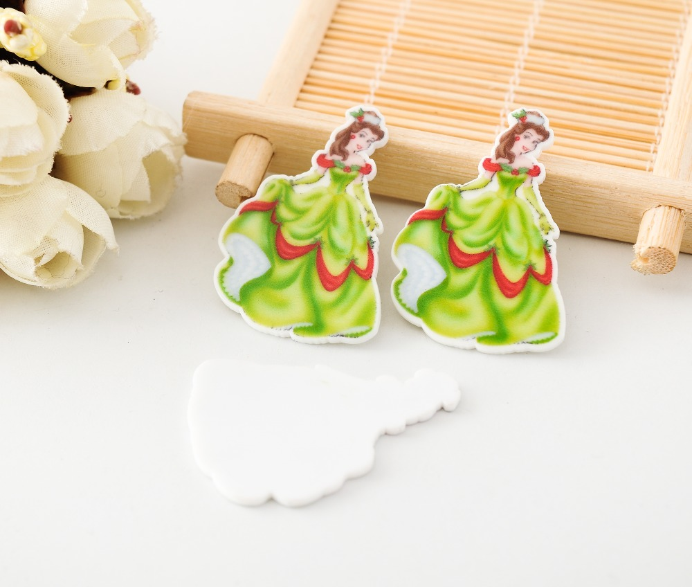 Kawaii flat back planar resin Beauty and the Beast princess belle Figurine holiday decoration crafts DIY hair Bow accessories(China (Mainland))