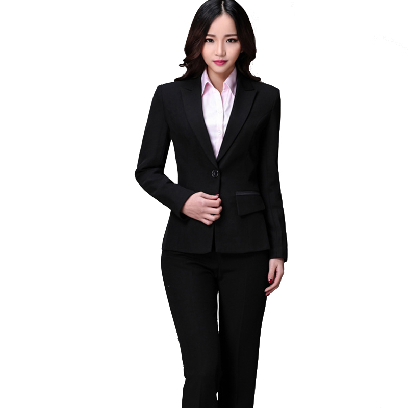 Wonderful Elegant Women Pants Suits New 2015 Business Blazer Suits With Pants
