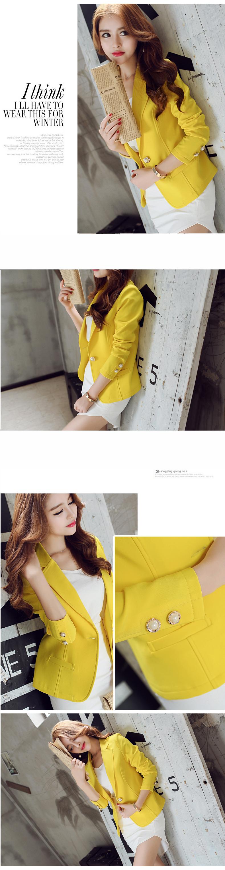 Blazer Feminino amarelo aliexpress
