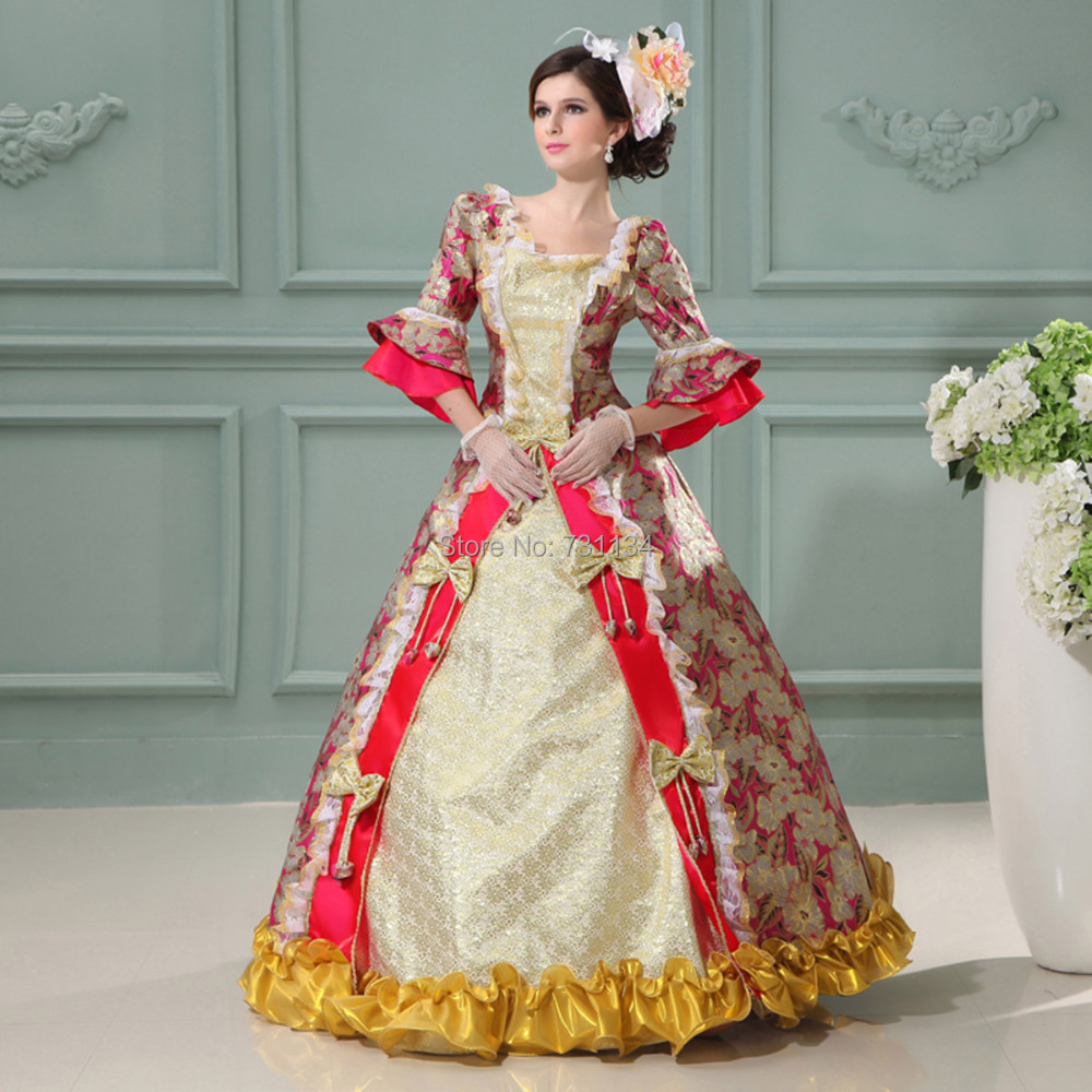party dresses picture more detailed picture about new women 2017 new women 17th 18th century victorian print long party dresses marie antoinette costume vintage court