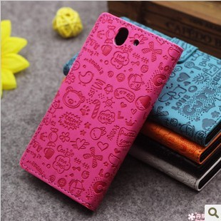 Magic Girl Cute Leather Case Cove Holder Card Slots Sony Xperia Z / L36H L36i Yuga C6603 freeshipping - case store