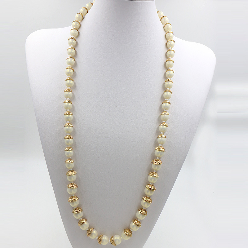 simple pearl and chain necklace � craftbnb