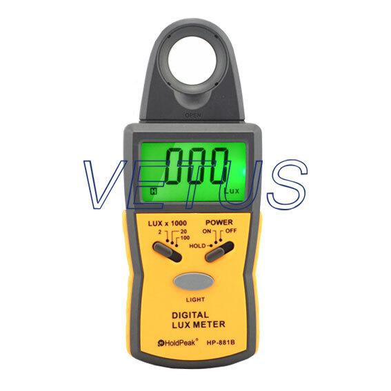 1999 Display,0.1Lux~50,000Lux,HP-881B digital Lux Meter illuminance meter light meter tester gauge