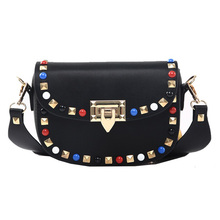 Buy Spring Autumn New Fashion Rivet Mini PU Leather Crossbody Bags Women's Famous Brand Designer Handbags Ladies Shoulder Bags for $15.58 in AliExpress store