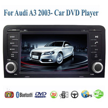 2 Din Car DVD Player Fit AUDI A3 2003- 2006 2007 2008 2009 2010 2011 2012 2013 2014 GPS TV 3G Radio WiFi Bluetooth Wheel Control(China (Mainland))
