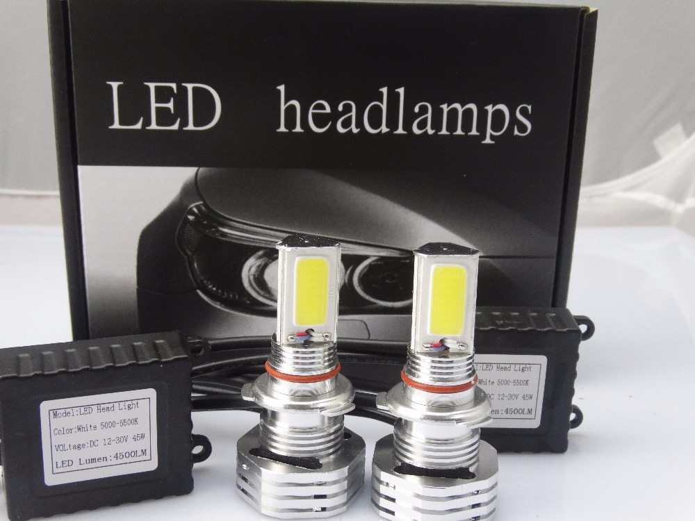 2 X Latest Suitable For All Cars 90W 9000LM High Lumen H4 H7 COB LED Car Fog Headlight(China (Mainland))