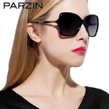 Parzin New Polarized Sunglasses  Oversized Sunglasses Women Fashion Female Driving Glasses  Shade With Case Black 9504