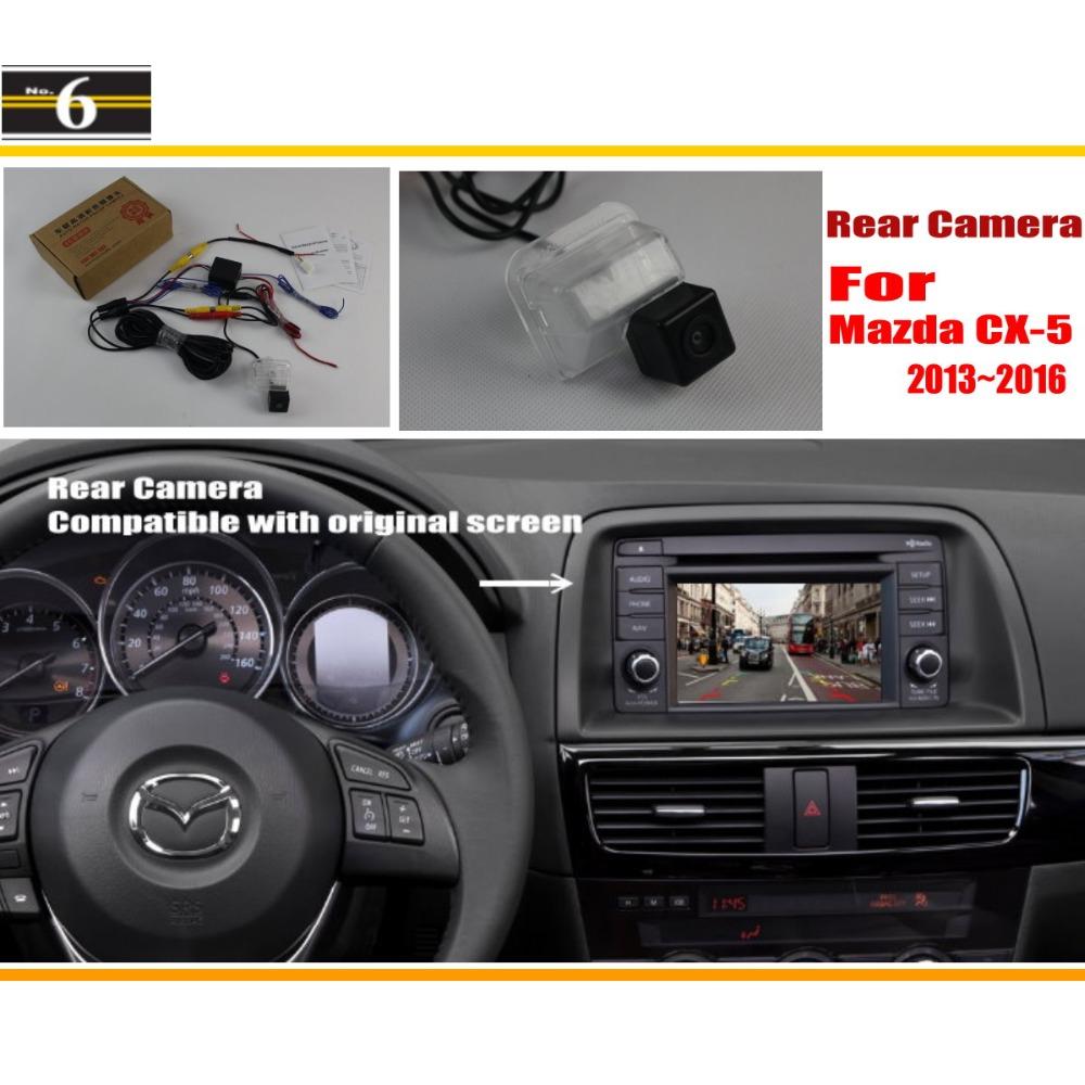 Car Rear View Camera / Back Up Reverse Camera Sets For Mazda CX-5 CX 5 CX5 2013 2014 2015 / RCA & Original Screen Compatible(China (Mainland))