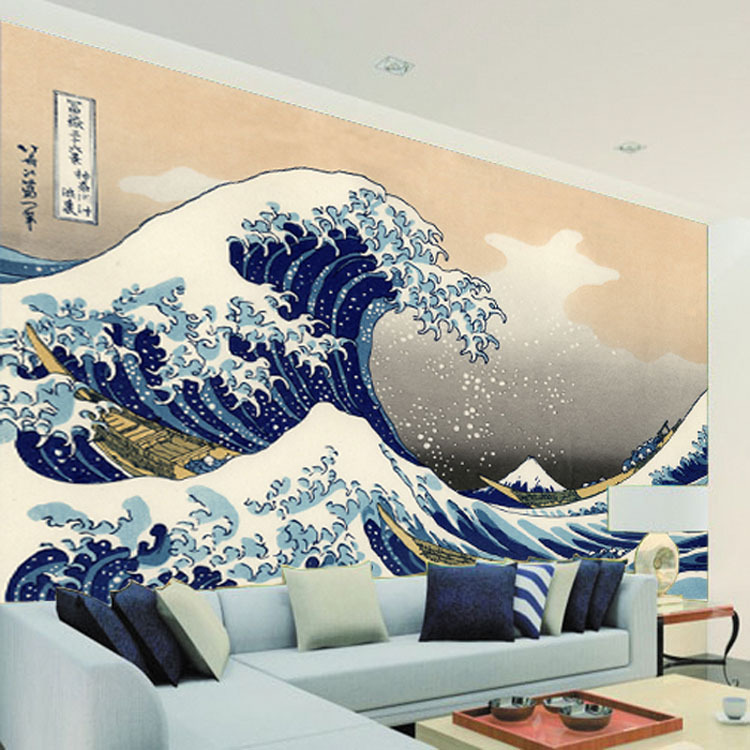 Japan ukiyoe photo wallpaper large size wallpaper vintage for Asian wallpaper mural
