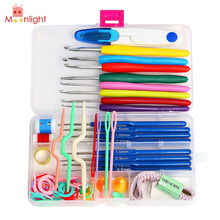 Buy 1 Set 16 Sizes Colorful Aluminum Crochet Hooks Needles Stitches Knitting Craft Case Crochet Set Case Knit DIY Craft for $6.68 in AliExpress store