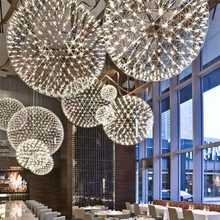 Hand Made Stainless Steel Creative Circle Pendant Light Moooi Raimond LED Firework Lamp Ball Restaurant D20/D30/D40/50/60CM(China (Mainland))