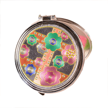 High Quality Retro Chinese Style Cosmetic Compact Mirrors Mini Women Pocket Folding Mirror Portable Mirror Gifts(China (Mainland))