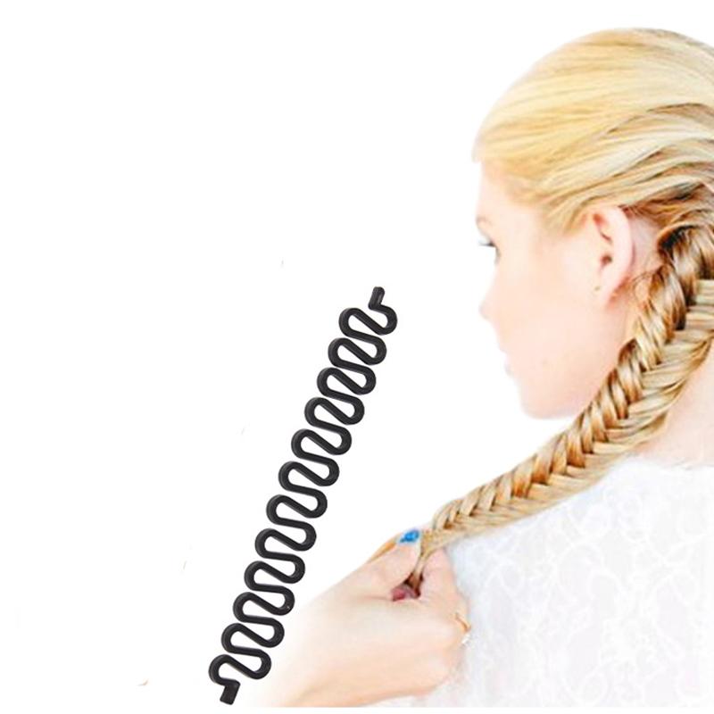 2Pcs Fashion Plastic Hair Braiding Tool Weave Braid Roller Hook Hair Twist Styling Bun Maker Hair Band Hairdressing Accessories(China (Mainland))