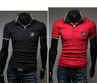 2013 new summer Hot selling Wholesale cotton short sleeve collar polo Shirts Men's T-Shirt Free shipping  5067