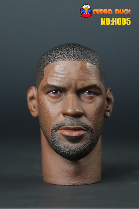 "1/6 SUPER DUCK H005 Male Head Sculpt The Book of Eli Denzel Washington Head Carving For 12"" Action Figure Doll Toys Accessory H(China (Mainland))"