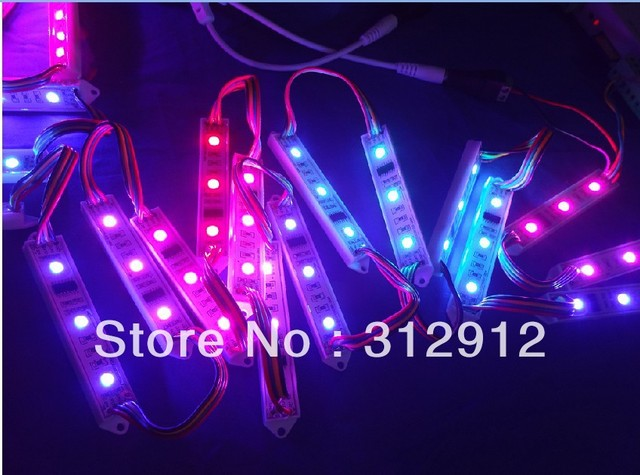 20pcs DC12V WS2801 pixel module,3pcs 5050 led,20pcs a string,91*14*6.8mm size