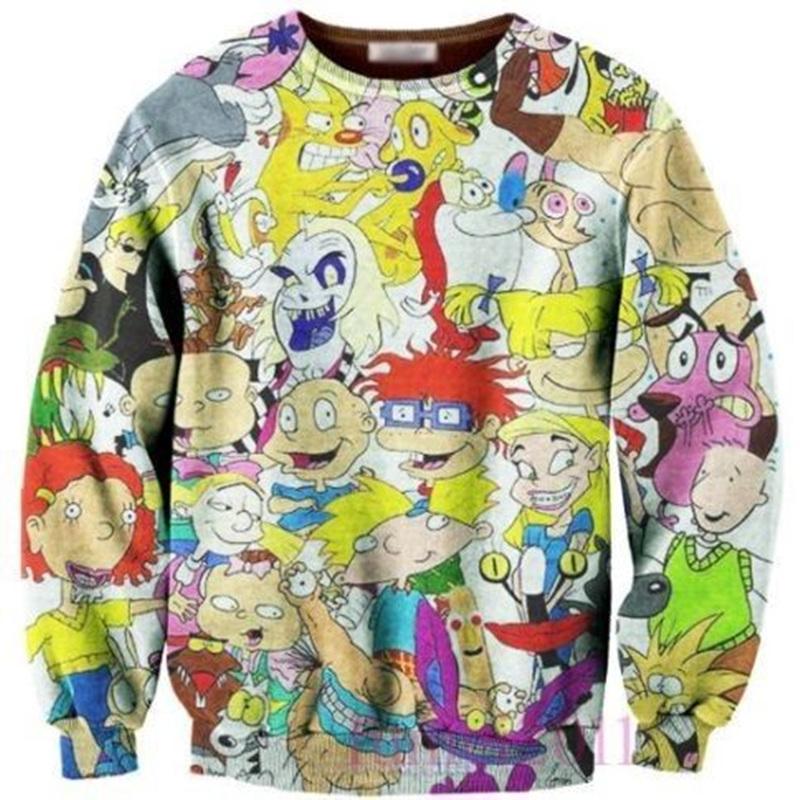 Womens Hoodie fashion 3D Cartoon Sweatshirt Pullover Top Jumper Coat Anime Novelty Kawaii ClothesОдежда и ак�е��уары<br><br><br>Aliexpress