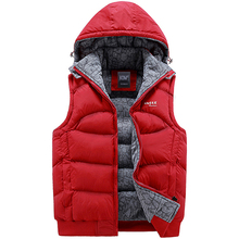 Brand New Arrival Slim Man Vest 2015 Winters Hooded Cotton Padded Thickening Fitness Sleeveless Men's Vests Jackets And Coats(China (Mainland))