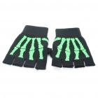 Sporty Half-Finger Gloves - Black + Green (Pair) Shenzhen K-Lin Yuan Technology Co., Limited store