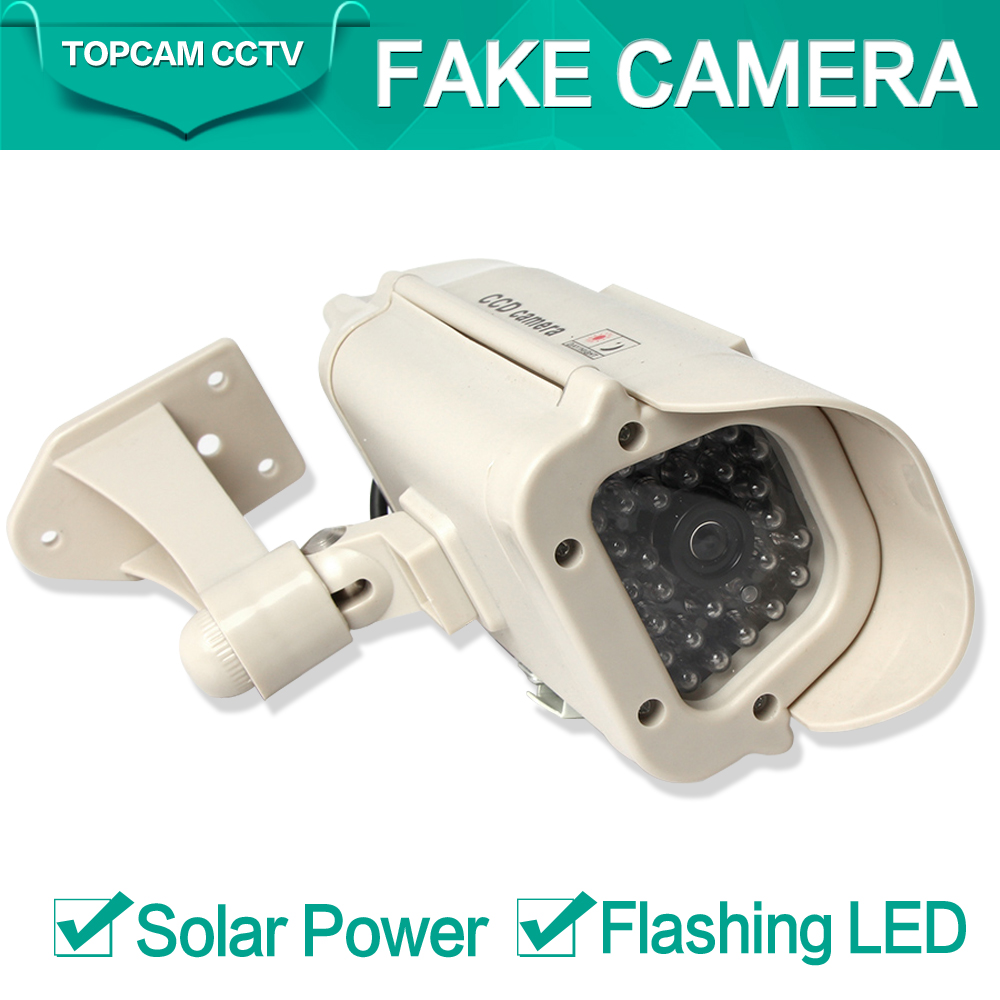Bullet Solar Energy Power Fake Camera Realistic Dummy Decoy Security Camera Surveillance Simulated Fake CCTV With Blinking LED(China (Mainland))